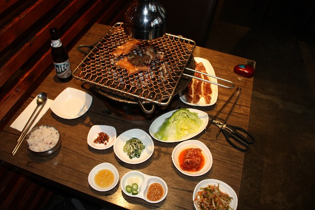 Melbourne Hwaro Korean BBQ and condiments